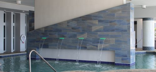 Indoor Pool with Fountains